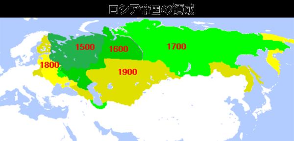 ロシア帝国の領域